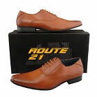 Mens Boys New Tan Brown Lace Up Smart Casual Leather Lined Shoes 6 - 8