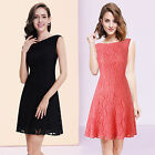 Women's Simple Fashion Lace Short Casual Cocktail Party Dress 05331