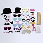36-44Pcs Party Masks Photo Booth Props Mustache On A Stick Wedding Party Favor Y