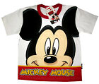 Boys MICKEY MOUSE white short sleeve cotton summer t-shirt S-XL 4-9 yrs FreeShip