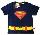 Boys SUPERMAN classic logo cotton summer t-shirt Size S-XL Age 3-8yrs Free Ship