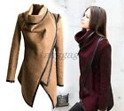10 colors Fashion British Womens Casual Slim Fit Cape Trench Coat Cotton Jacket