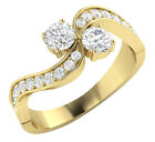 SI1/G Forever Us Two Stone Round Diamond 1.00 Ct Solitaire Ring 14Kt White Gold