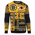 "Boston Bruins UGLY Christmas SWEATER Crew Neck ""Patches"" NHL NEW 2015 $52.5 USD on eBay"