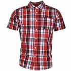 Lee Cooper Kids Short Sleeved Checked T Shirt Tee Top Button Down Junior Boys