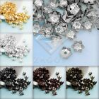 Approx 100-160Pcs Flowers Cone Filigree Normal Beads Caps 7mm Jewelry Findings