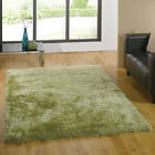 EXTRA LARGE MEDIUM SMALL MODERN DEEP 6CM PILE LUXURY SOFT GREEN SANTA CRUZ RUGS