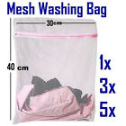 Zipped Laundry Washing Mesh Net Bags Socks Bra Lingerie Underwear Clothes NEW UK