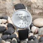 Unisex vintage Leather Stainless Steel Casual vintage Gifts Digital Wrist Watch