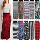 LADIES WOMENS SUMMER MAXI PRINTED GYPSY LONG SKIRT ELASTIC JERSEY BODYCON DRESS