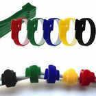 10pcs Reusable 15/20CM Cable Ties Hook & Loop Velcro Strap Tidy Cord Wire Wrap