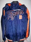 DETROIT TIGERS Winter Jacket Parka Fleece Lining LG XL BLUE / ORANGE on Ebay