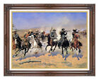 A Dash For The Timber Frederic Remington Western Framed Art Print Painting Repro