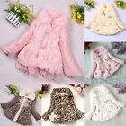 Fashion Faux Fur Winter Coat Cute Cotton-padded Outwear for Little Girls