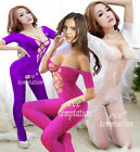 Sexy Babydoll Fishnet Lingerie Underwear BODYSTOCKING SUSPENDER Catsuit dress