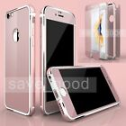 New Shockproof Tempered Glass Film Metal Rubber Frame Case Cover For iPhone 6 6s