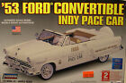 LINDBERG 1:25 SCALE WHITE 1953 FORD CONVERTIBLE INDY PACE CAR PLASTIC MODEL KIT