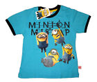 MINIONS Kids short sleeve cotton summer t-shirt Size S-XL Age 3-7 yrs Free Ship