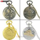 Classic Steam Train Quartz Pocket Watch Gift Necklace Pendant Chain Steampunk image
