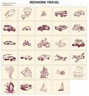 REDWORK TRAVEL. CD machine embroidery designs files most formats pes etc