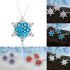1PC Women Snowflake Pendant Silver Plated Choker Chain Necklace Charm