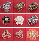 Scarf Ring Clip Buckle Women Scarf Clip Flower Buckle Holder Scarf Jewelry SA