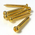 Gold pan head screws 3.5mm x 25mm guitar project self tapping 6,20, 50 or 100