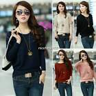 Hot Womens Round Neck Sweater Batwing Knitted Pullover Jumper Loose Shirt Tops