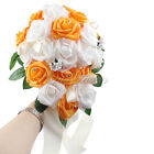 Hand-holding Rose Teardrop Crystal Bridal Bouquet Garland Decoration for Wedding