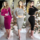 New Summer Women's Bodycon Crop Top and Skirt Set Summer Clubwear Pencil Dress