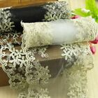 New Floral Embroidered Tulle Lace Trim Flower Fabric Dress Sewing Double Side 1M