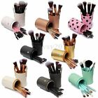 12 PCS Makeup Brush Set Cosmetic Brushes Kit Make Up + Cup Leather Holder Case