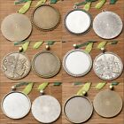 NEW round shaped cabochon setting in 40mm bronze and dark silver color lot 3pcs