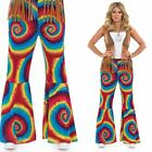 Ladies Hippy Flares Costume For 60s & 70s Trousers Fancy Dress Adults Womens