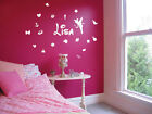 Personalrized Name Butterfly Flower kids Wall Stickers