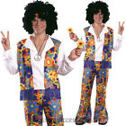 CL643 Mens Hippie Hippy Woodstock Groovy 60s 70s Disco Psychedelic Fancy Costume