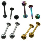 Stainless Steel Ball Top Labret Lip Piercing Stud Earring Body Jewelry 1PC