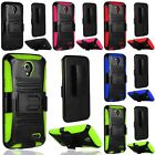 For ZTE Stratos LTE Z819C / Allstar Z818L Hybrid Hard Case Cover + Holster Clip