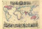 MP44 Vintage 1850's Victorian Historical British Empire World Map A1/A2/A3