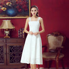 Women's Gorgeous Lace Georgette Gown Prom Wedding Bridesmaid Dress Two Pieces