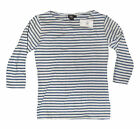 Double Ralph Lauren RRL Womens Blue Navy White Striped Boat Collar Shirt New 2
