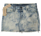 Ralph Lauren Womens Denim & Supply Mini Acid Washed Distressed Denim Skirt  New
