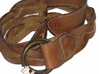 Double Ralph Lauren RRL Brown Braded Italy Tanned RRL Logo Leather Belt Size 40