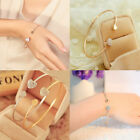 Women Fashion Gold/Silver Rhinestone Love Heart Bangle Cuff Bracelet Jewel Gifts