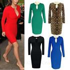 Clubbing Stretchy Sexy Bodycon Ladies Career Vintage Winter Dress UK sz 6-18