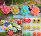 DAISY FLOWER PENDANT NECKLACE NECKLACE OR EARRINGS FOR CHILDREN RESIN