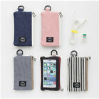 Keep Steady Mobile Pouch Two Way Zipper Card Case Wallet Keyring Key Holder Bag
