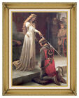 The Accolade Edmund Blair Leighton Painting Reproduction Framed Canvas Art Print