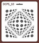 Scrapbook Decoupage Stencil Seamless damask 5 sizes available 035mm thick DCPS10