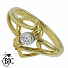 BJC® 9ct yellow gold Diamond 0.10ct Solitaire size P engagement dress ring R80